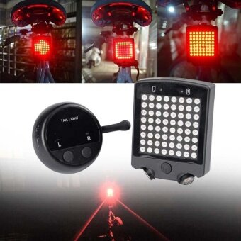 Bicycle Bike Indicator Rear Light Wireless Remote Control Turn Signal Light - intl