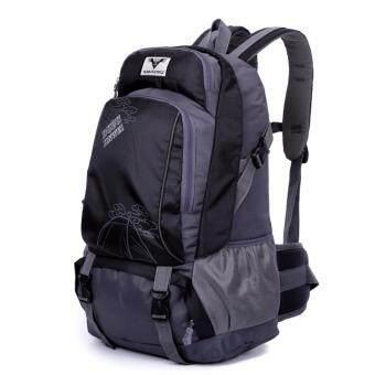ซื้อ/ขาย Boonsiri Set Backpac 40-50 L เป้สะพายหลังเดินทาง ท่องเที่ยว เป้กันน้ำ เป้เดินป่า มัลติฟังก์ชั่น BSR-060 สีดำ-เทา