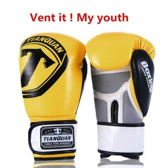Harga Boxing Gloves Sanda Gloves Adults Cadet Muay Thai ProfessionalWrestling Fight - intl