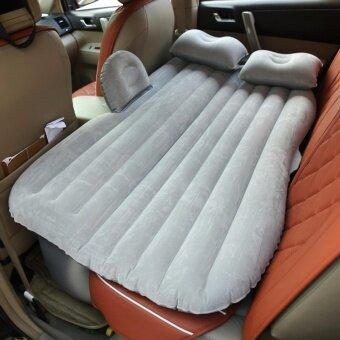 ที่นอนเบาะลมไฟฟ้าในรถ เปลี่ยนเบาะหลังรถให้เป็นเตียงนอนอย่างดี หุ้มกำมะหยี่ Car air bed