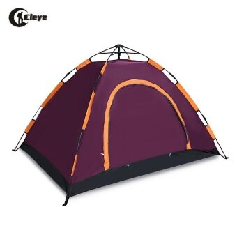CLEYE Outdoor Water Resistant Automatic Instant Setup 2 - 3 Person Camping Tent - intl