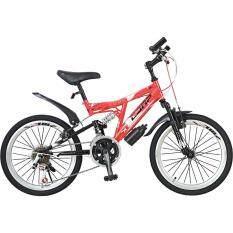"""Comp จักรยานเสือภูเขาเด็ก 20"""" sky (สีแดง)"""