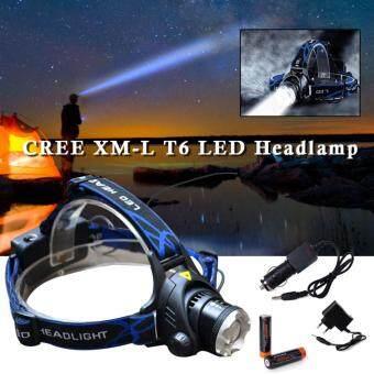 CREE โคมไฟสวมศีรษะ XM-L T6 LED 2000Lm Flashlight