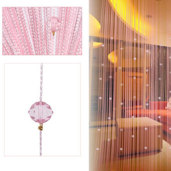 Decorative String Curtain Beads Wall Panel Fringe Room Door WindowPink