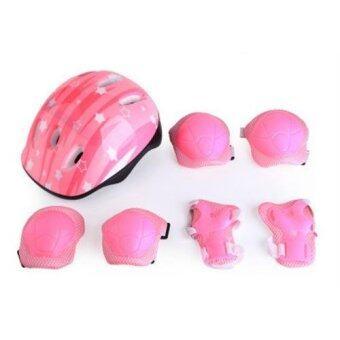 DMALL เล่นสเก็ตลูกกลิ้ง ชุดป้องกัน Kid Roller Skating ProtectiveGuard Pad - Pink