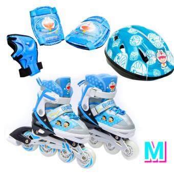 Doraemon รองเท้าอินไลน์สเก็ต โดราเอมอน เบอร์ 28-32 (M) Inline Skate Doraemon (Blue) Size M (ครบชุด)
