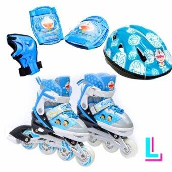 Doraemon รองเท้าอินไลน์สเก็ต โดราเอมอน เบอร์ 33-41  (L) Inline Skate Doraemon (Blue) Size L (ครบชุด)
