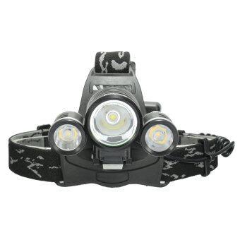 Elfeland 10000ลูเมน 3 x xM-L2 LED T6 18650 ไฟหน้าไฟหน้าโคมไฟฉาย