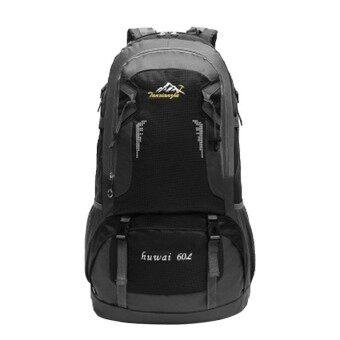 ERA 60L Waterproof Wear Resistant Men Women Outdoor Travel Backpack Large Capacity Hiking Climbing Backpack Rucksack Red - intl