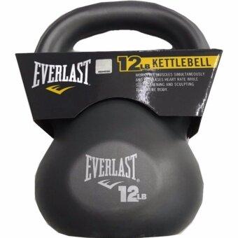 EVERLAST เคตเทิลเบลล์ 12LB (5.45 กิโลกรัม) PVC KETTLEBELL (สีเทา)