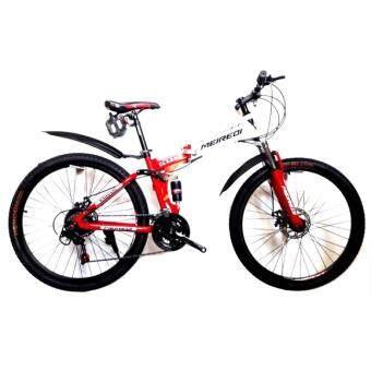 EXPERT GROUP จักรยานเสือภูเขาพับได้ MEIREDI 26\21 เกียร์โช้คหน้า-กลาง บังโคลนหน้า-หลัง วงล้ออัลลอย ( สีขาว/แดง )