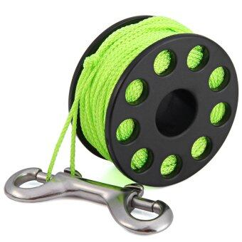 EZDIVE GL30 Scuba Diving Finger Spool 30m Spider with Double Ended Snap (Green)
