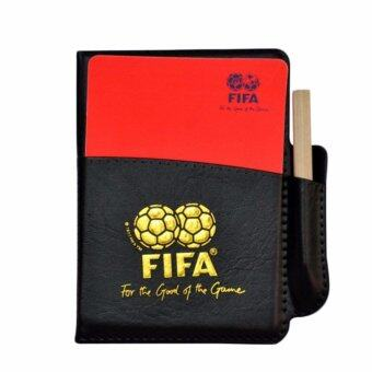 Fancyqube Football Referee Set PU Booklet Wallet Notebook With RedYellow Judge Cards - intl