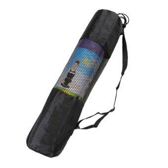 Fine Nylon Yoga Mat Bag Carrier Mesh Center Black (not include mat)Black