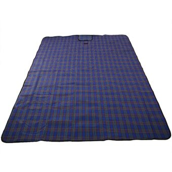 Foldable Moisture Proof Picnic Beach Camping Mat Blanket withHandle (Blue) - intl - 4