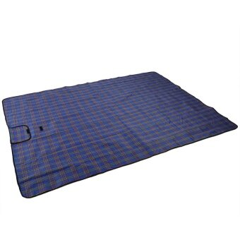Foldable Moisture Proof Picnic Beach Camping Mat Blanket withHandle (Blue) - intl