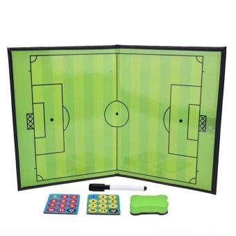 Folding Magnetic Football Coaching Board Soccer Training TacticsPVC Set + Pen - intl