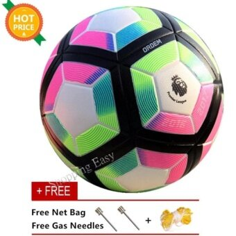Harga Football Premier League Seamless Adhesive Anti-Slip Football MatchTrainning SIZE 5 PU Soccer Ball Gift - intl