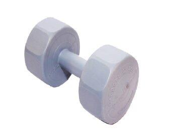 G sport DUMBELL พลาสติกชนิดเหลี่ยม น้ำหนัก 6 kg. รุ่น LU-6 -สีน้ำตาล