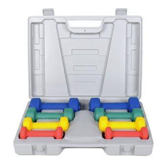 GALAXY ชุดดัมเบล นีโอพลีน Neoprene Dumbbell Set 10 Kg. พร้อมกล่องรุ่น DS-01 (image 1)