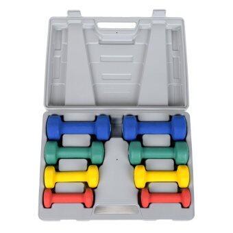 GALAXY ชุดดัมเบล นีโอพลีน Neoprene Dumbbell Set 10 Kg. พร้อมกล่องรุ่น DS-01 (image 2)
