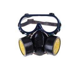 Gas Mask Emergency Survival Safety Respiratory Gas Mask Anti Dust Paint Respirator Mask With 2 Dual Protection Filter - intl