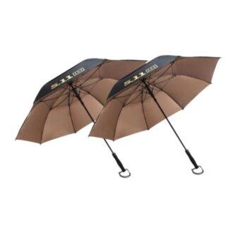 Golf Umbrella ร่มกอล์ฟ 511 ร่ม 2 ชั้น เคลือบกัน UV คุณภาพสูง จำนวน 2 คันBlack-Gold