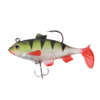 GOOD Colourful 8cm Soft Bait Lead Head Fish Lures Fishing Tackle Hook New Colourful (Intl)