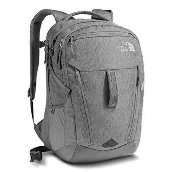 Harga GPL/ The North Face Surge Backpack TNF Grey Heather / ZincGrey/ship from USA - intl