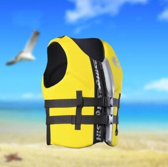 Hisea Professional Neoprene Life Jacket Life Vest Fishing Life VestPFD Inflatable Life Jacket for Adults Swimwear Swimming Jackets -intl