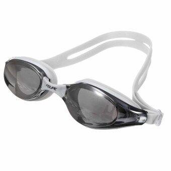 HKS Adult Non-Fogging Swimming Goggles Glasses Adjustable\nWaterproof Grey - intl