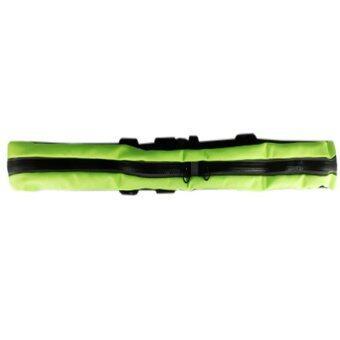 ราคา I - CHEAP Outdoor Sport Pocket กระเป๋ากีฬาแบบคาดเอวอเนกประสงค์แบบ 2ซิป กันน้ำได้ ( สีเขียว/ดำ )