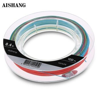 Harga AISHANG Monofilament Fishing Line 100M PE 8 Strands(Multicolor) - intl