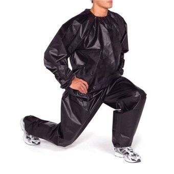 Harga Fitness Loss Weight Sweat Suit Sauna Suit Exercise Gym Size 3XL Black (Intl)