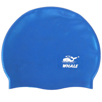 Harga Whale Comfortable and durable Silicone Swim Cap For Adults and Kids(Blue)