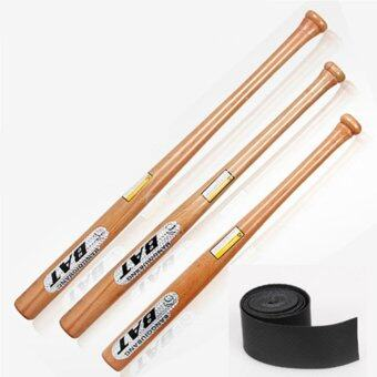 Harga Solid Wooden Jointless Baseball Bat 54cm Softball Bat with A Non-slip Rubber Band - intl