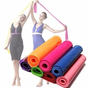 Harga 1.5m Exercise Pilates Yoga Dyna Resistance Abs Workout Physio Aerobics Stretch Band Purple