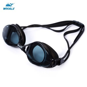 Harga WHALE Adult Professional Silicone Water Resistant Anti Fog Swimming Goggles with Box - intl