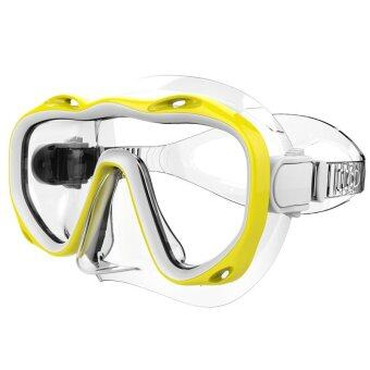 Harga Whales Silicone Scuba Diving Equipment Swimming Goggles Freediving Dive Mask(Yellow)