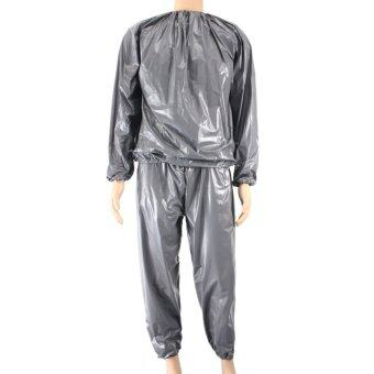 Harga Fitness Loss Weight Sweat Suit Sauna Suit Exercise Gym Size XXL Grey (Intl)
