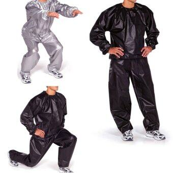 Harga Fitness Loss Weight Sweat Suit Sauna Suit Exercise Gym Size 4XL Black