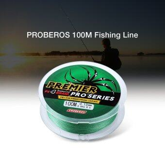Harga PROBEROS 100M PE 4 Strands Monofilament Braided Fishing Line Accessory 8LBS(Green)