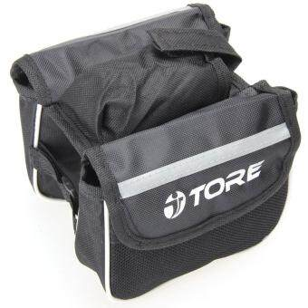 Harga Bicycle Bike Cycling Front Frame Tube Handlebar Pannier Phone Pouch(Black) - intl