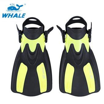 Harga WHALE Snorkeling Diving Swimming Fins Trek for Professional Diver (XL) (Yellow)