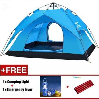 Harga 1Set 240x210x140CM 4 Persons Waterproof Dome Automatic Instant Tent Beach Tent For Festival,Camping, Hiking - intl