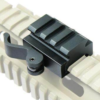 Harga 40mm Tactical Quick Release Bracket 3-Slot Rifle Picatinny Weaver Universal Adaptor Riser Rail - intl