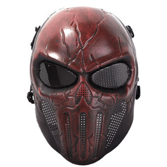 Harga Halloween God Ghost Skull Cosplay Masquerade Mask Breatherable Airsoft Full Face Mask Paintball Protect Gear Equipment