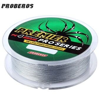 Harga PROBEROS 100M PE 4 Strands Monofilament Braided Fishing Line Accessory 70LBS(Gray)