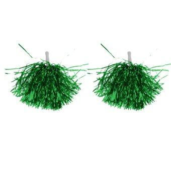 Harga MagiDeal 24pcs Cheerleading Pompom Waver Cheer Dance Accessory Green