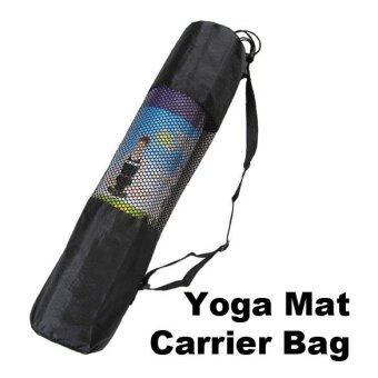 Harga Fine Nylon Yoga Mat Bag Carrier Mesh Center (Black) - intl